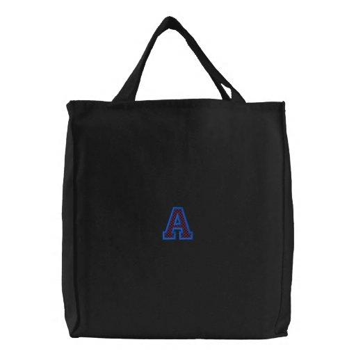 """X-Stitch """"A"""" Canvas Bags"""