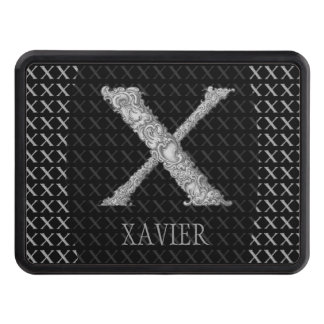 X - The Falck Alphabet (Silvery) Trailer Hitch Cover