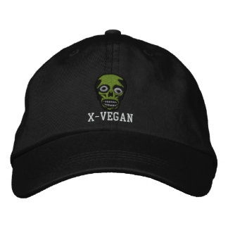 X-VEGAN ZOMBIE HAT EMBROIDERED HAT