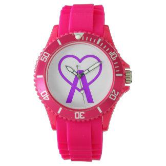 X&W Pink A~Heart Watch