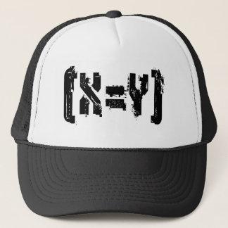 X=Y_BlockLogo Trucker Hat