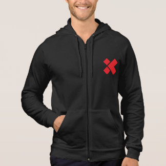 X Zip Hoodie with printed logo (not Embroidered)