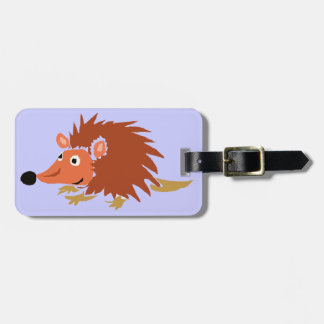 XA- Funny Hedgehog Primitive Art Cartoon Luggage Tag