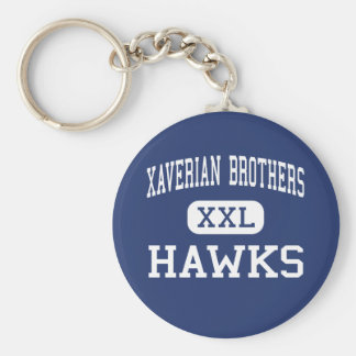 Xaverian Brothers - Hawks - High - Westwood Basic Round Button Keychain
