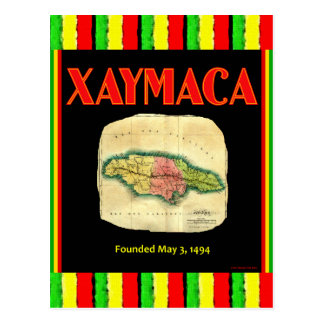 Xaymaca, founded May 3, 1494 - Jamaica Map Postcard