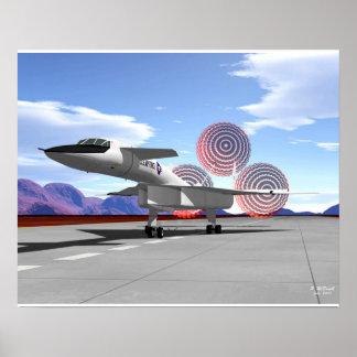 XB-70 braking Poster