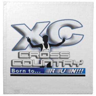 XC BORN TO RUN CROSS COUNTRY LOGO PRINTED NAPKIN