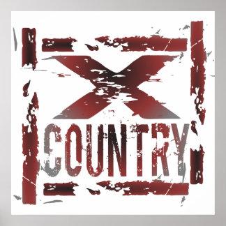 XC coureur de pays croisé Poster