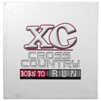 XC CROSS COUNTRY MOTTO BORN TO RUN MAROON NAPKINS