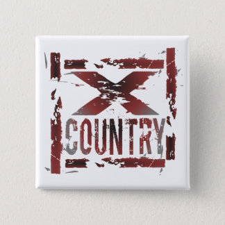 XC Cross Country Runner 2 Inch Square Button