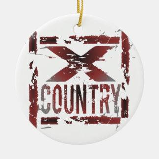 XC Cross Country Runner Ceramic Ornament