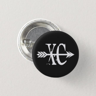 XC Cross Country Running 1 Inch Round Button