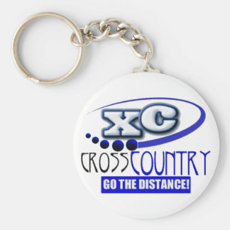 XC MOTTO - Go the Distance - CROSS COUNTRY Basic Round Button Keychain