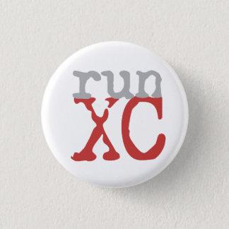 XC Run - Cross Country Running 1 Inch Round Button