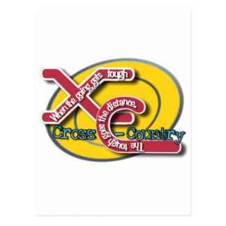 XC TOUGH MOTTO - CROSS COUNTRY POSTCARD