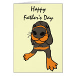 XD- Funny Dog Cartoon Father's Day Card