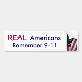XD- REAL, Americans, Remember 9-11 sticker Bumper Sticker