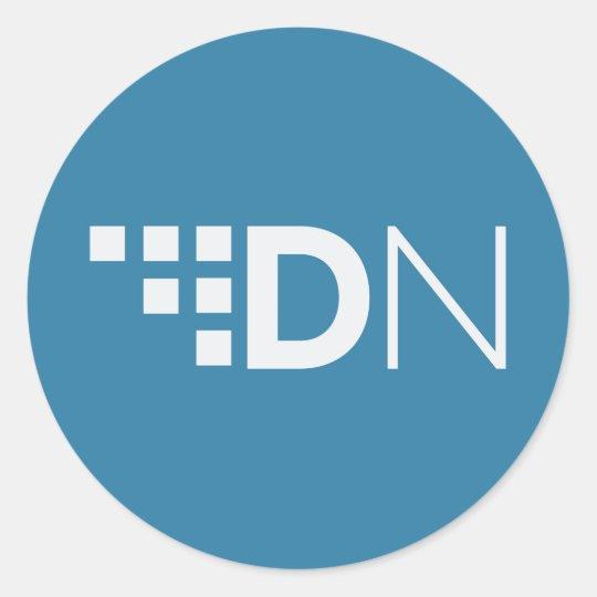 XDN DigitalNote Logo Classic Round Sticker