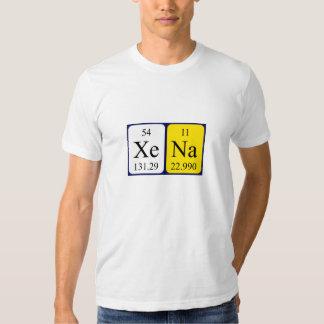 Xena periodic table name shirt