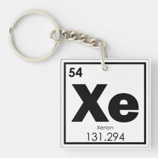 Xenon chemical element symbol chemistry formula ge keychain