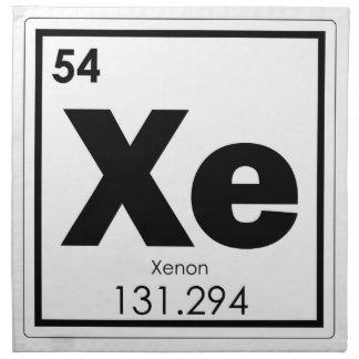 Xenon chemical element symbol chemistry formula ge napkin