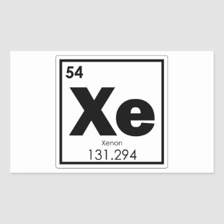 Xenon chemical element symbol chemistry formula ge sticker