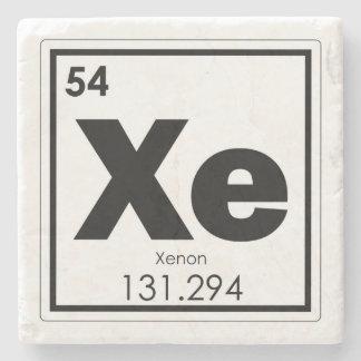 Xenon chemical element symbol chemistry formula ge stone coaster