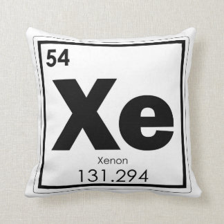 Xenon chemical element symbol chemistry formula ge throw pillow