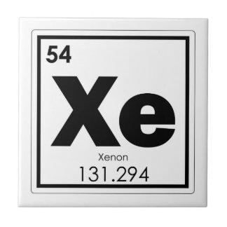 Xenon chemical element symbol chemistry formula ge tile