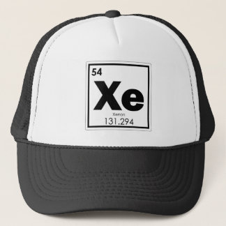 Xenon chemical element symbol chemistry formula ge trucker hat