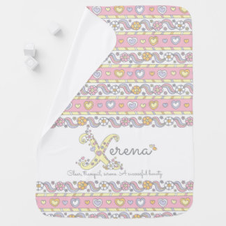 Xerena name and meaning hearts baby blanket