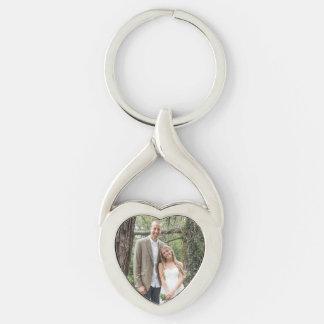Xérès + Porte - clé de coeur du mariage de Josh Porte-clé Argenté Cœur Torsadé