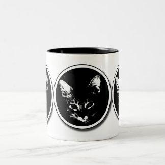 Xero Circle Shadow, Xero Circle Shadow, Xero Ci... Two-Tone Coffee Mug