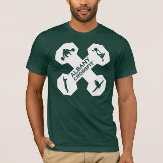 Xfit Dumbell Logo White T-Shirt