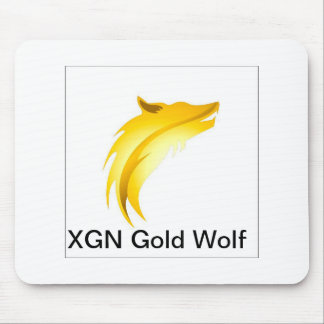 XGN GOLD WOLF Mouse Pad