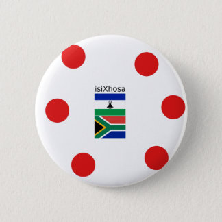 Xhosa Language And South Africa/Lesotho Flags 2 Inch Round Button