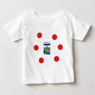 Xhosa Language And South Africa/Lesotho Flags Baby T-Shirt