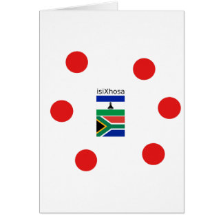 Xhosa Language And South Africa/Lesotho Flags Card