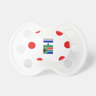 Xhosa Language And South Africa/Lesotho Flags Pacifier