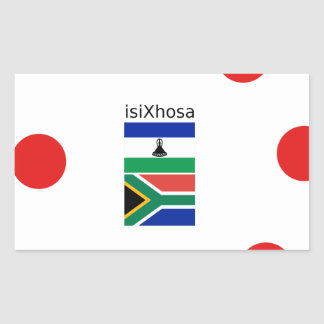 Xhosa Language And South Africa/Lesotho Flags Sticker