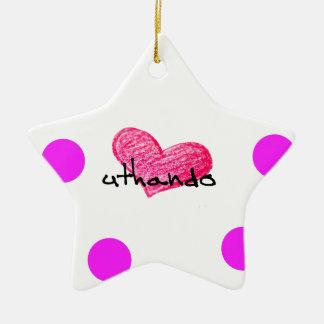 Xhosa Language of Love Design Ceramic Ornament