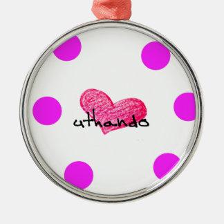 Xhosa Language of Love Design Metal Ornament