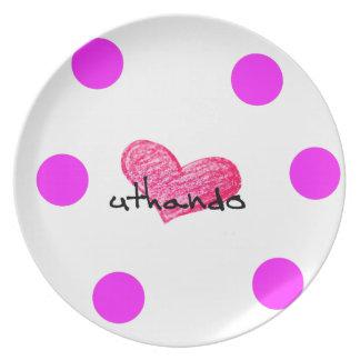Xhosa Language of Love Design Plate