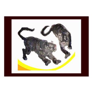Xian China 2002 2 Tigers Art1 jGibney ACT-Open Ed Business Card Templates