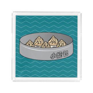 Xiaolongbao Chinese Soup Dumpling Dim Sum Bun Acrylic Tray