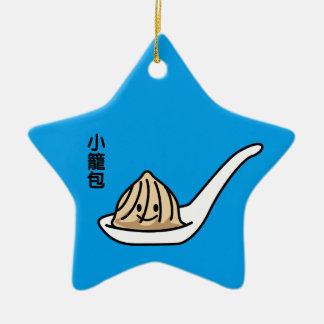 Xiaolongbao Chinese Soup Dumpling Dim Sum Bun Ceramic Ornament