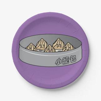 Xiaolongbao Chinese Soup Dumpling Dim Sum Bun Paper Plate