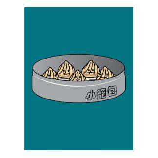 Xiaolongbao Chinese Soup Dumpling Dim Sum Bun Postcard