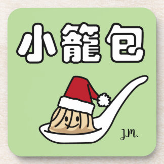 Xiaolongbao Chinese Soup Dumpling Dim Sum Santa Ha Coaster