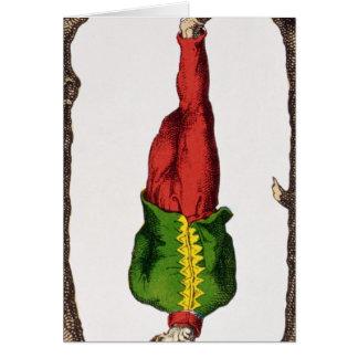 XII l'homme pendu, carte de tarot